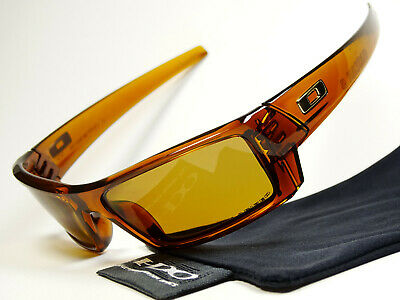 Oakley Gascan S Dark Amber Polarized Sonnenbrille Dog Pup Monster Batwolf Fives