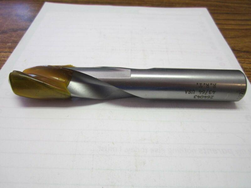 """Rock River Tools (264043) 43/64 x 2-7/8 x 4-5/8"""" Stub Length Drill Bit"""