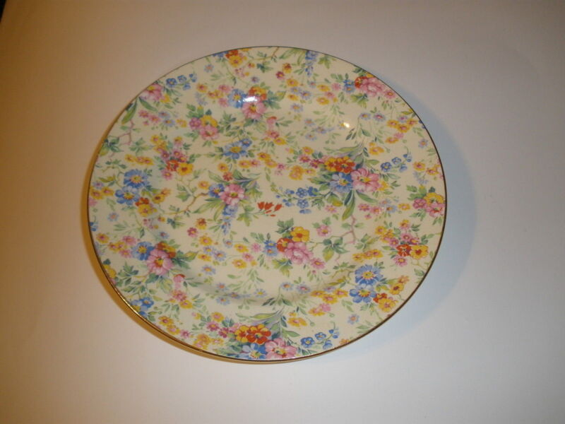 Royal Winton Chintz Salad Plate Floral Feast Pattern 1930