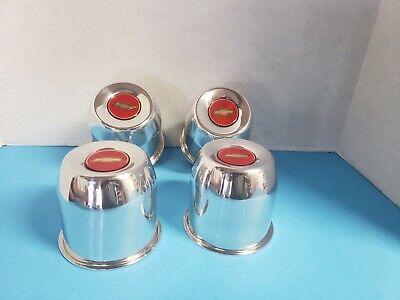 4 ALUMINUM  CAPS 6 LUG  CENTER LINE  WHEELS CAL-102 4.25 OD  RED BOW