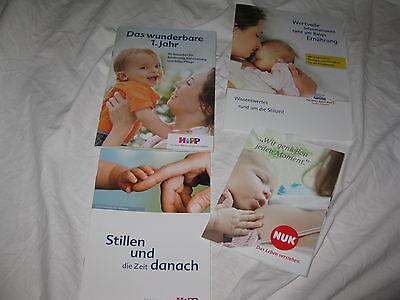 neu! 4 Hefte Broschühren über Babys Ernährung Stillen + 1. Jahr Hipp  Nuk Nestle