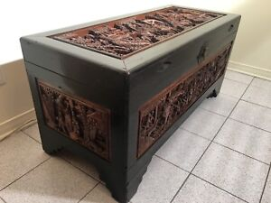 """Zhuge Liang Camphor chest  Coffre chinois chinese chest 1920"""""""