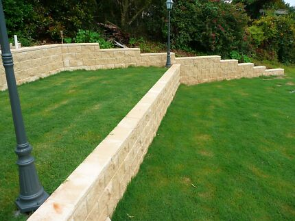 Retaining walls block fence brick fence paving landscaping bbq Southport Gold Coast City Preview
