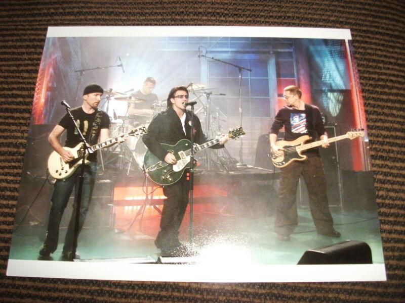 U2 Bono The Edge Color 8x10 Photo Music Sexy Promo Rare Live