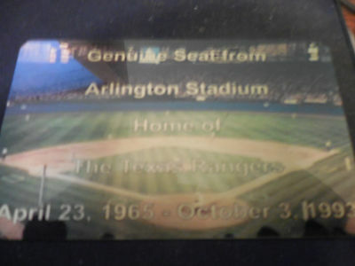 TEXAS STADIUM AT ARLINGTON SEAT PLAQUE TEXAS RANGERS