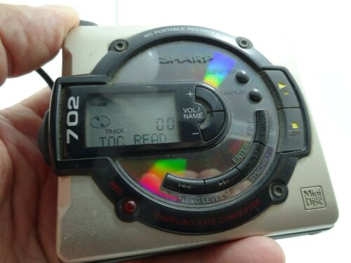 Vintage Sharp MD - MS702H Mini Disc Player Read Description