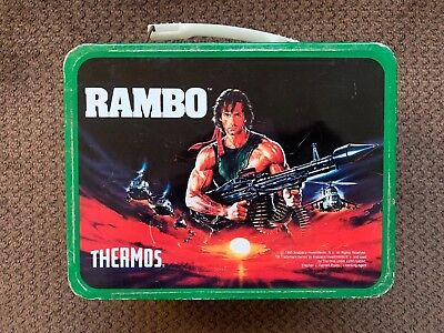 Vintage Rambo Tin Lunch Box with Thermos