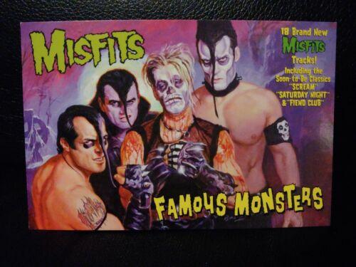 VINTAGE MISFITS POSTCARD FAMOUS MONSTERS PROMO 1999 MINT DANZIG JERRY ONLY