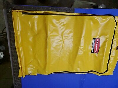 Rubbermaid Commercial Vinyl Replacement Hospital Cleaning Cart Bag. Yellow. Usa