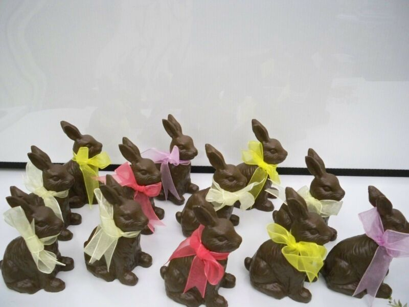 EASTER RABBITS (12) WITH RIBBONS