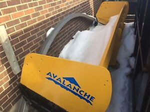 12 Foot Avalanche Snow Pusher - Skid Steer Mount compact loader