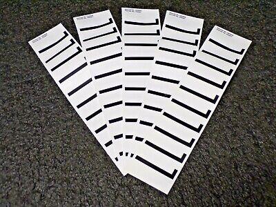 ELECTROMARK Letter Label, L, White, 2