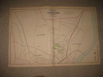 For sale ANTIQUE 1893 EAST & HARTFORD CITY BRISTOL CONNECTICUT HANDCOLORED MAP RARE NR