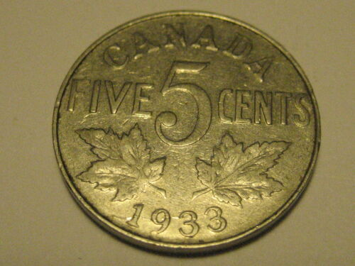 1933 Canadian Nickel VF