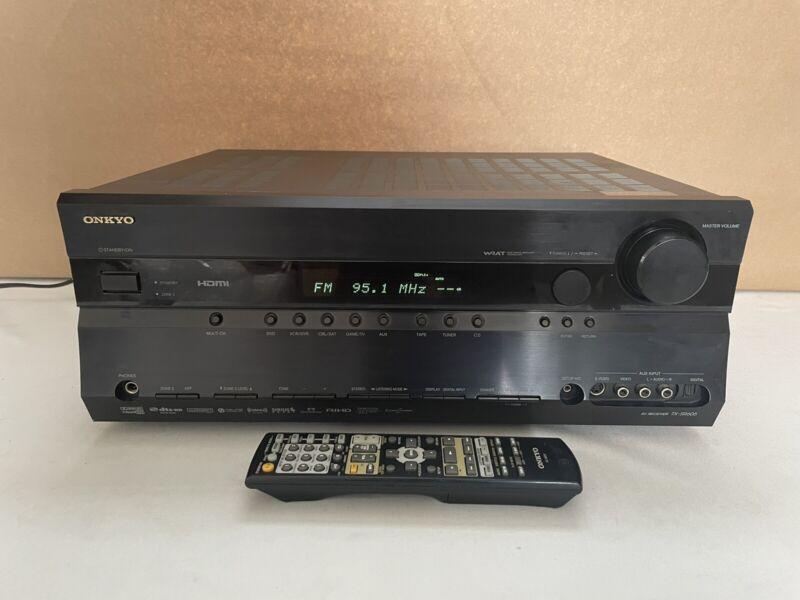 Onkyo TX-SR605 Stereo 7.1 Channel Surround Theater AV Receiver Bundle w/ Remote