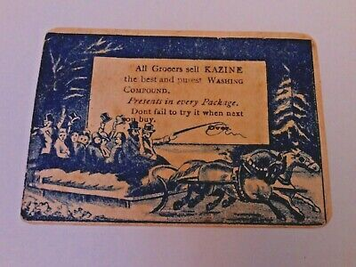 Vtg Kazine Washing Compound Elixir Ad Victorian Trading Card Frank Hadley