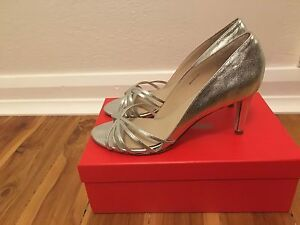 Silver wedding shoes size 40 Ainslie North Canberra Preview
