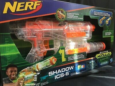 "NERF Hasbro ""N-Strike"" Modulus Ghost Ops Shadow ICS-6 BRAND NEW IN BOX"
