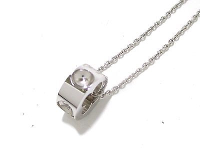 Authentic LOUIS VUITTON Pendentif Empreinte 18K White Gold Q93125 Necklace