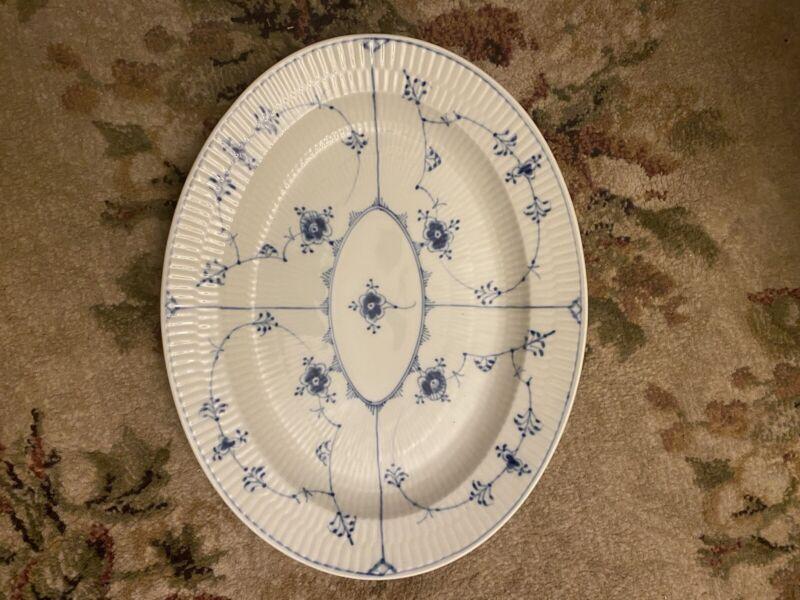 ROYAL COPENHAGEN BLUE FLUTED PLAIN- Oval Serving Platter - #97 - Excellent!