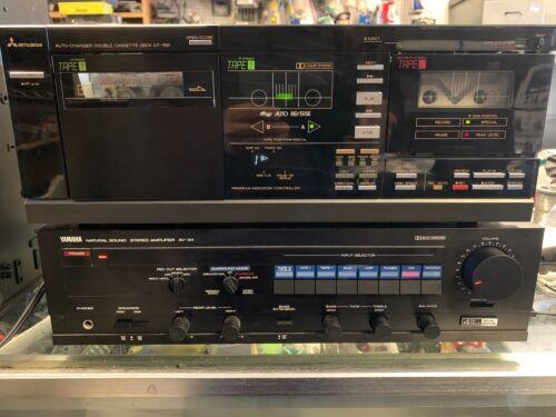 Vintage Mitsubishi DT-156 7 + 1 Cassette Auto-Changer Deck Auto Reverse rare