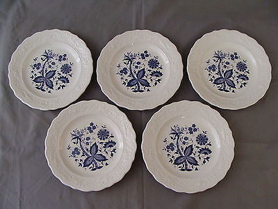 "5 Rare Vintage ""Blue Onion"" Design Bread/Dessert Plates on Rummage"