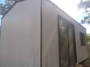 White shed Nanango South Burnett Area Preview