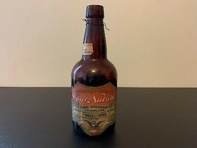 Antique Prohibition ANHEUSER BUSCH Malt-Nutrine Bottle ST. LOUIS, MISSOURI