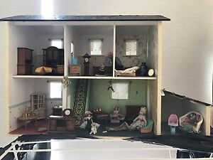 Handmade wooden Victorian dollhouse with full furniture Heathcote Sutherland Area Preview
