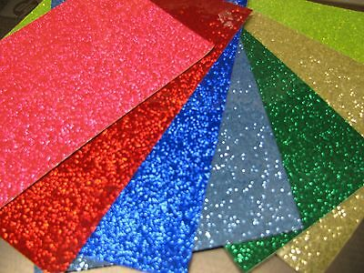 Glitter Flake Sign Vinyl Sample Pack 16 Small Sheets 3 X 4 Inch