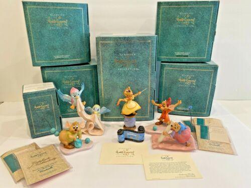 WDCC Cinderella Disney 6 Piece Collection COA, Rare! – 1st Edition! MIB Sewing