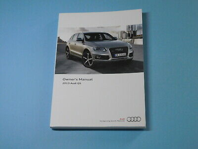 2013 Audi Q5 Factory Owners Owner's Manual