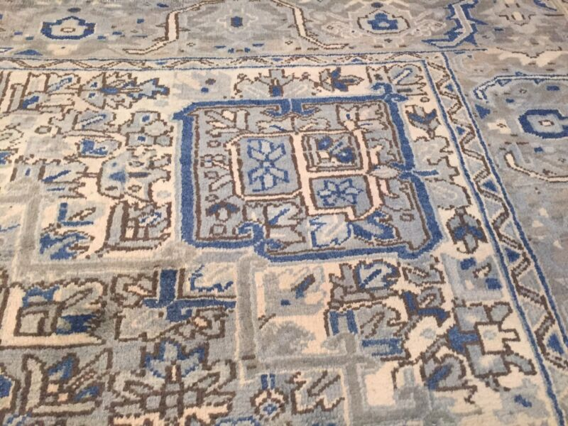 Rare Design Hand Knotted Wool Rug, Size 8