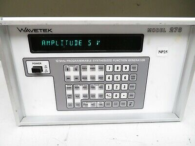 Wavetek Model 278 Programmable Synthesized Function Generator 12 Mhz Opt 02 Np25