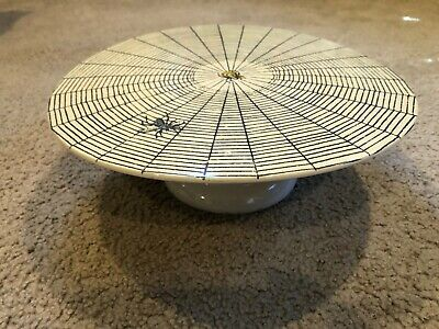 """John Derian Target Threshold Spider Web Cake Stand Plate 12"""" Sweet Trappings"""