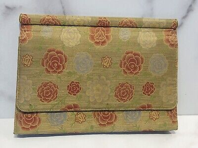 Vintage GUCCI 1950's Floral Fabric Clutch Bag