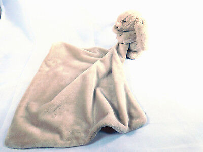 Jellycat Bunny Rabbit Brown Lovey Security Blanket Full Body Bunny
