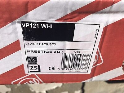 Mk 1 Gang Back Box Prestige 3D Vh121 WHI