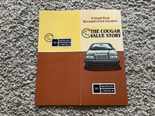 1985 Mercury Cougar, folder Value Story.