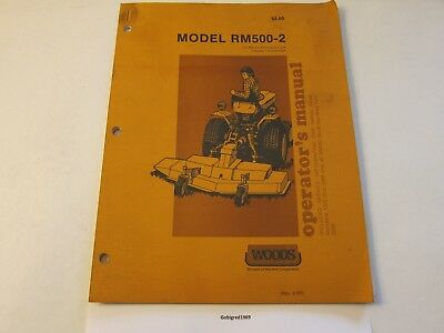 Woods Rm500-2 Mower Rotary Cutter Operators Manual Lots More Listed Lg6