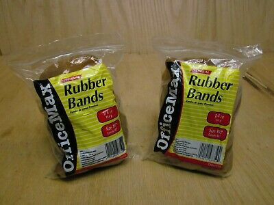 Officemax Brand Rubber Bands Size 107 2 Bags Each Bag 14lb About 12-14 Bands