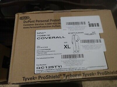 Dupont Qc125tylxl000400 Collared Coverall Elastic Yellow Xl Pk4 Personal Protect