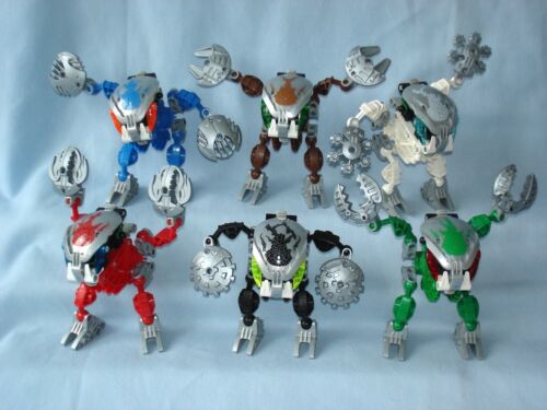 2003 Lego Bionicle BOHROK KAL (8573 - 8578) Complete Set of 6 with ...