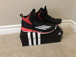 adidas Men's Title Run Basketball Shoes - Black/Red