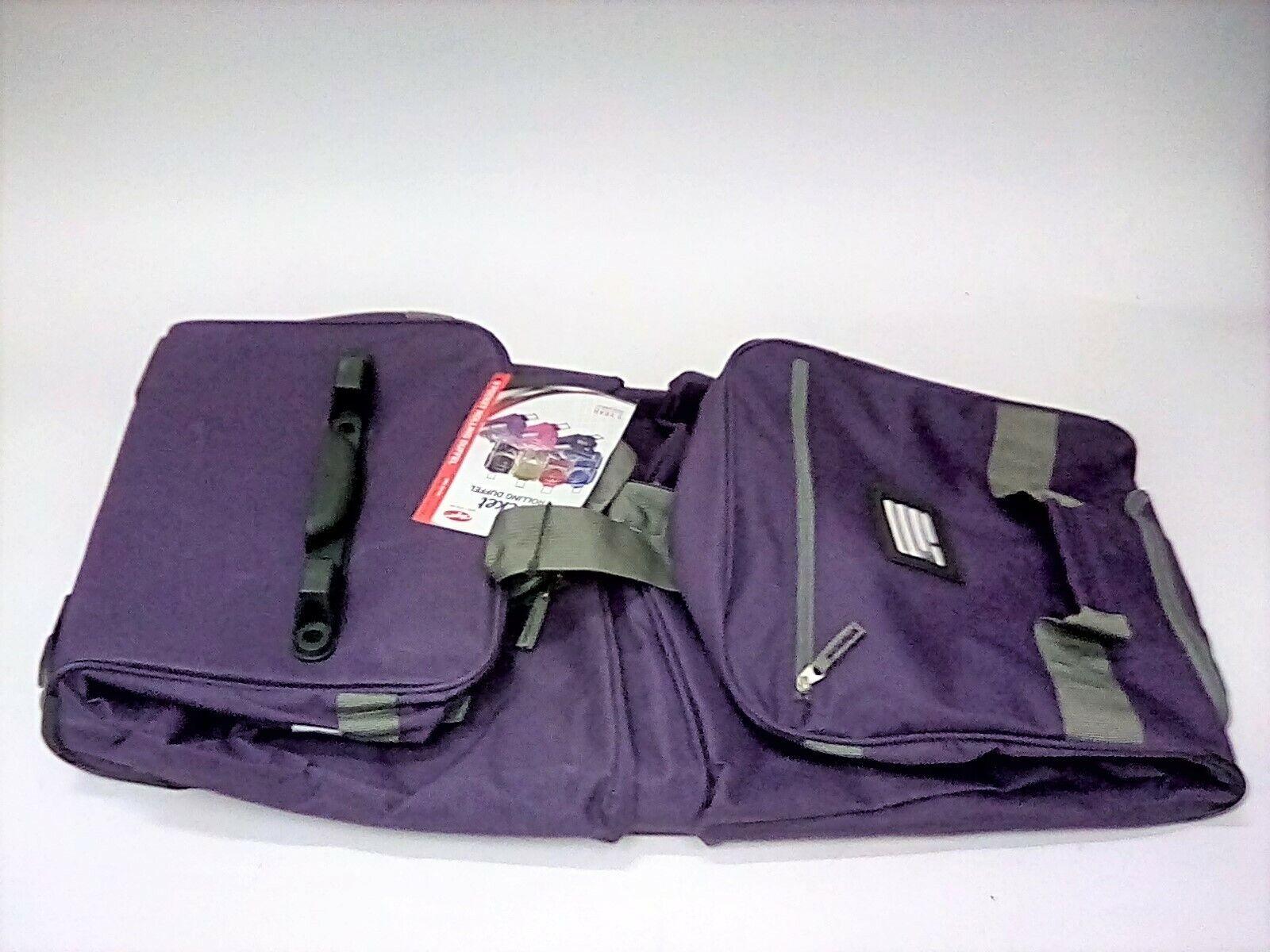 "Olympia 33"" 8 Pocket Sports Cargo Travel Rolling Duffel Carr"