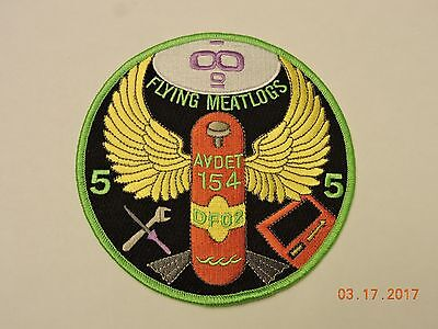 US Coast Guard AVDET 154 Aviation Detachment DF02 Flying Meatlogs USCG Patch #A6