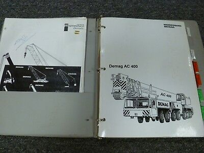 Demag Ac 400 Mobile All Terrain Crane Load Chart Capacities Manual Book 1997