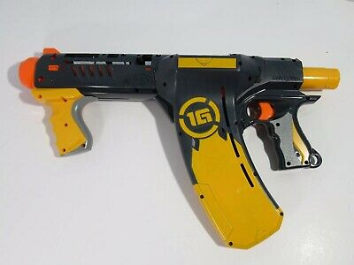 NERF Dart Tag Quick 16 Blaster Works Great Yellow Top Cover Missing Read Desc
