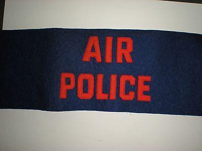 SCARCE ORIGINAL 1950'S ERA USAF AIR POLICE ARMBAND - MISSING HARDWARE