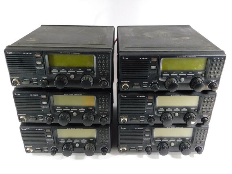 (1) Icom IC-M710 Marine Radio Transceiver (all work well... but not pretty)